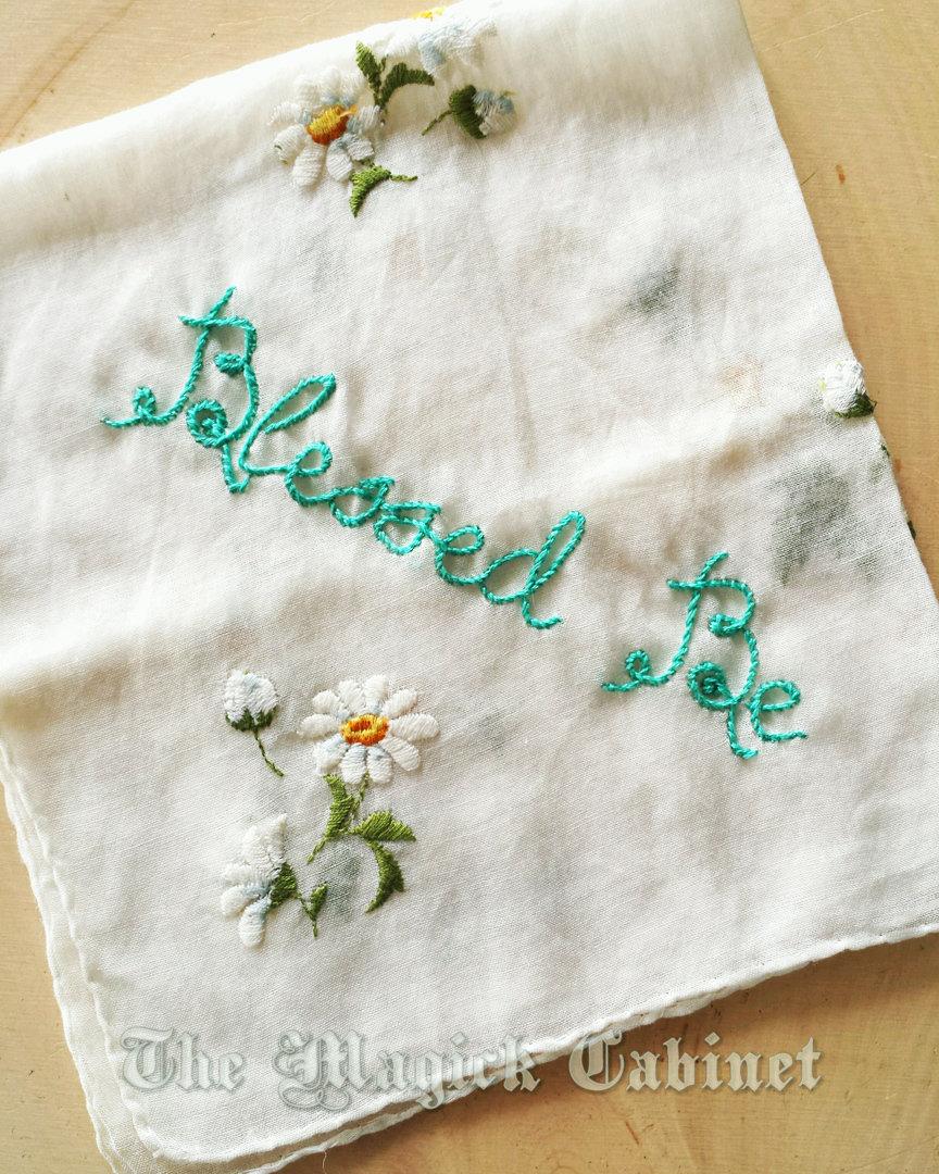 Altar Cloth for your Altar, Embroidered Wicca Altar Cloth, Vintage ...