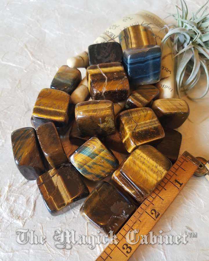 Tigers Eye Cubes Aids Harmony and Balance, Healing Crystals and Stones