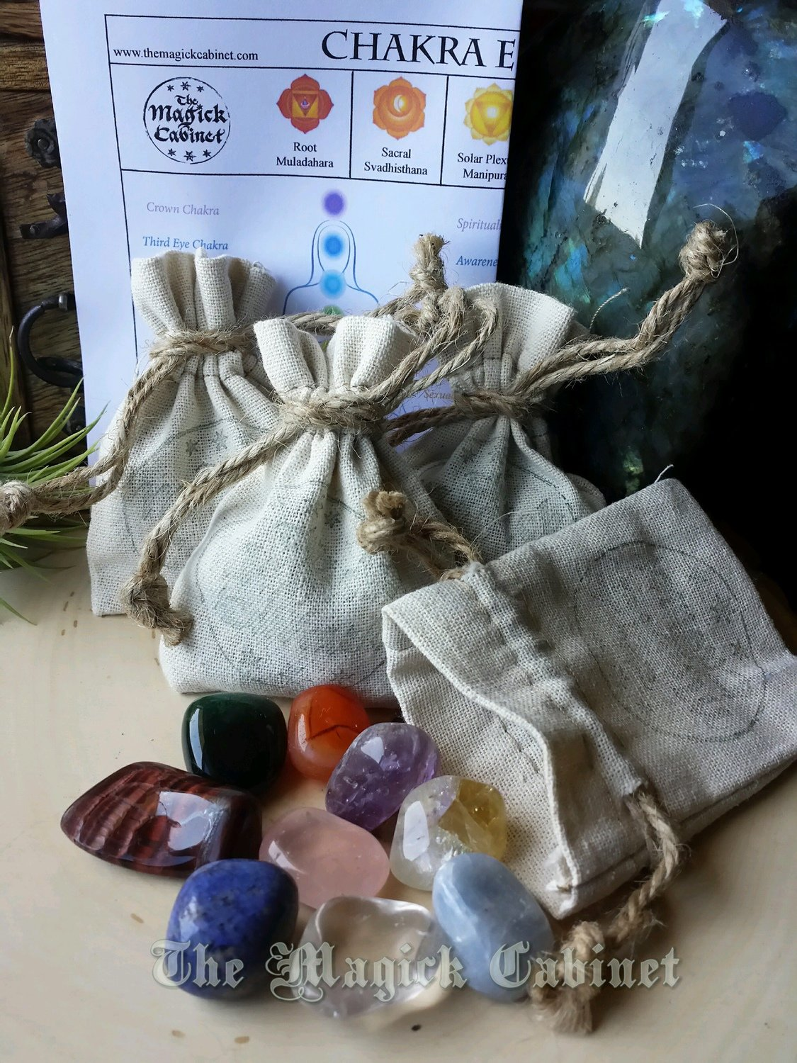 Chakra Energy Set, 9 Intuitively chosen stones for the most powerful Chakra  Alignment