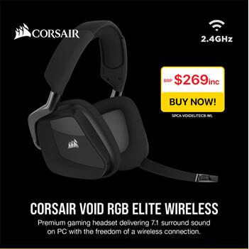 Corsair VOID Elite Carbon Black USB Wireless Premium Gaming Headset with Dolby® Headphone 7.1 AUDIO