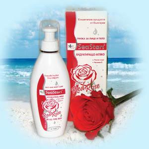 Увлажняющее молочко для лица и тела Красная Роза SeaStars Природная косметика 180 ml