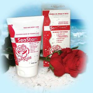 Очищающая грязевая маска для лица и тела Красная Роза SeaStars Природная косметика 120 ml