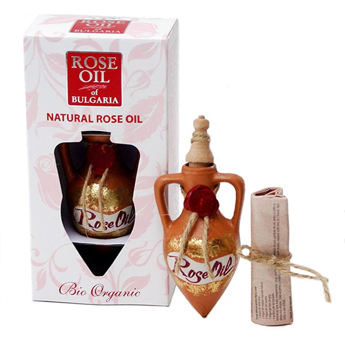 Розовое масло (упаковано в глиняную бутылочку) Роза Ойл 1,2 ml