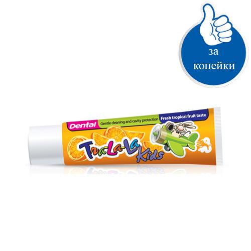 Детская зубная паста Тропические фрукты Dental Kids Rubella 50 ml