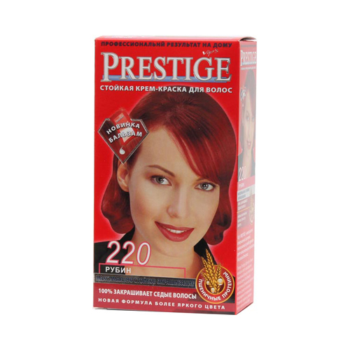 Крем-краска для волос Рубин Prestige Vip's Роза Импекс 100 ml