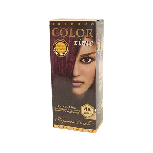 Гель- краска для волос Вишня Color Time Роза Импекс 100 ml