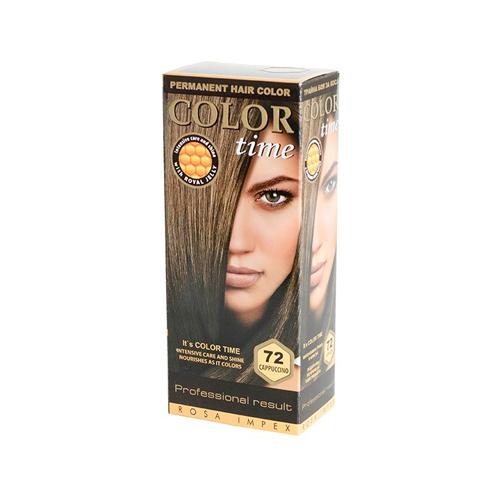 Гель- краска для волос Капучино Color Time Роза Импекс 100 ml