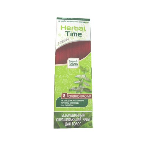 Крем-хна для волос Огненно- красный Herbal Time Роза Импекс 75 ml