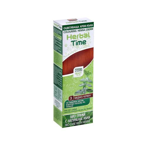 Крем-хна для волос Медно- красный Herbal Time Роза Импекс 75 ml