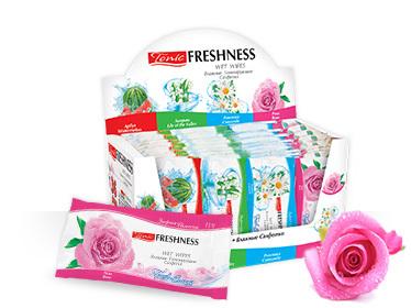 Влажные салфетки для рук и лица с ароматом Розы Roses from Bulgaria Agiva