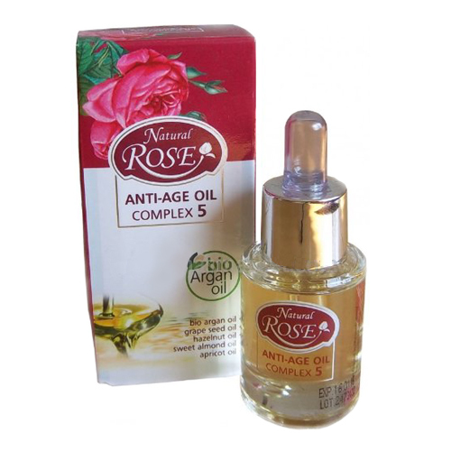 Anti-Age Oil Complex 5 масел Natural Rose Bio Argan oil Arsy cosmetics 15 ml
