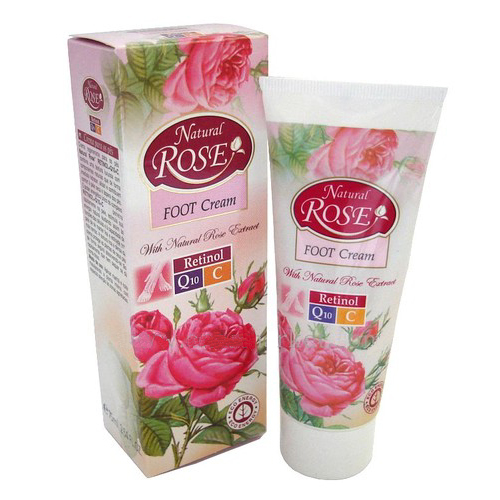 Регенерирующий крем для ног Anti-Age Natural Rose Q10 45+ Arsy Cosmetics 75 ml