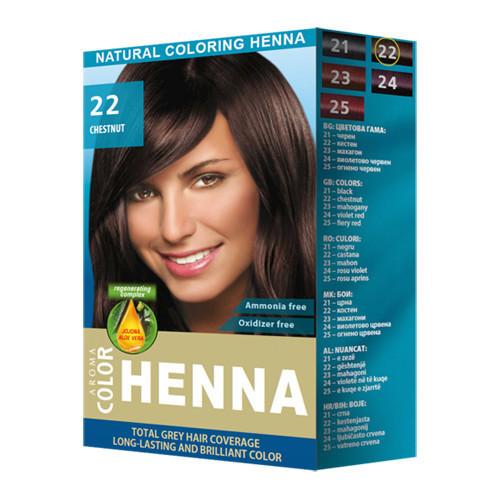 Хна для волос № 22 Каштан Aroma Color Henna 30 gr