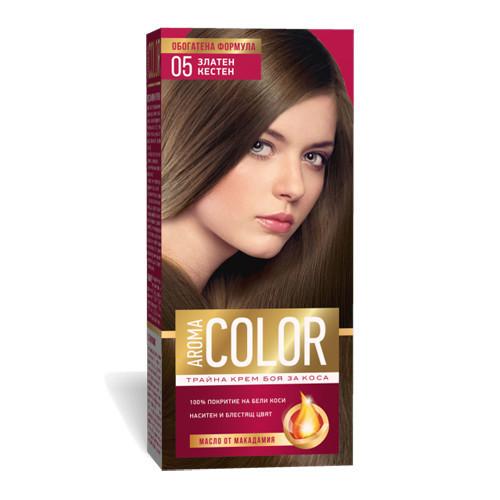 Крем- краска для волос № 5 Золотой Каштан Aroma Color 45 ml