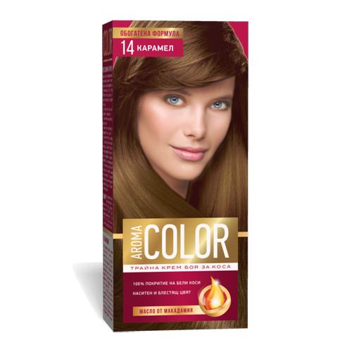Крем- краска для волос № 14 Карамель Aroma Color 45 ml