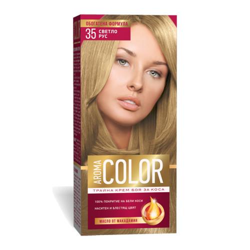 Крем- краска для волос № 35 Светло- русый Aroma Color 45 ml
