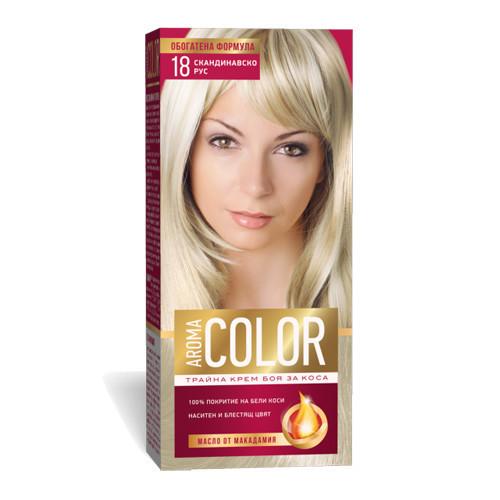 Крем- краска для волос № 18 Скандинавский русый Aroma Color 45 ml