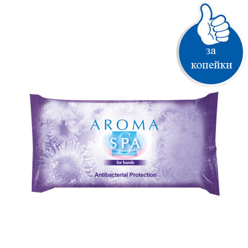 Влажные антибактериальные салфетки SPA для рук Арома