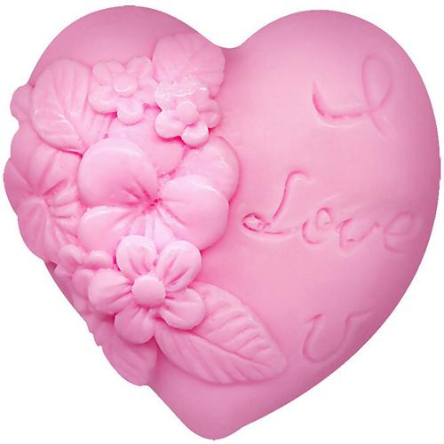 Глицериновое мыло Влюбленное сердце розовый 65 gr