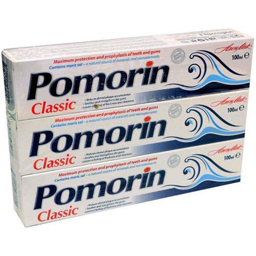 Паста зубная classic Pomorin (3 штуки) по 100 ml