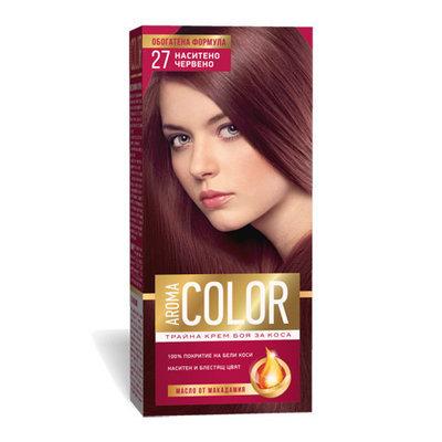Крем- краска для волос № 27 Насыщенно- красный Aroma Color 45 ml