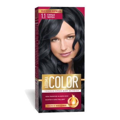 Крем- краска для волос № 1.1 Сине- черный Aroma Color 45 ml