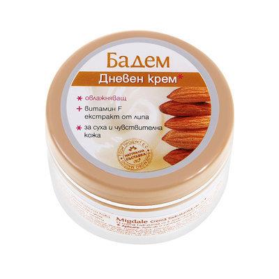 Увлажняющий дневной крем для сухой и чувствительной кожи лица Бадем (миндаль) Роза Импекс 100 ml