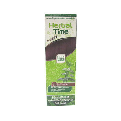 Крем-хна для волос Баклажан Herbal Time Роза Импекс 75 ml