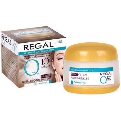 Ночной крем против морщин Refresh с маслом из ореха Макадамии Regal Q10+ Роза Импекс 50 ml