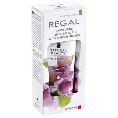 Скраб абразивный очищающий для всех типов кожи Regal Naturel Beauty Роза Импекс 100 ml
