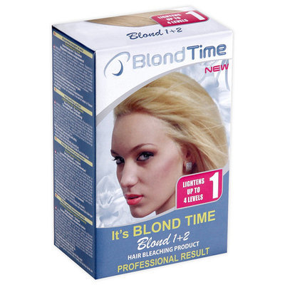 Осветляющий продукт для волос Blond 1+2 Blond time Роза Импекс 120 ml