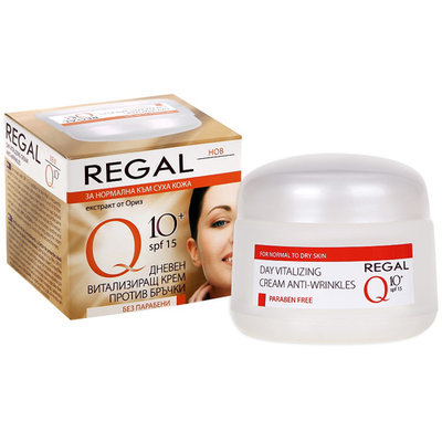 Крем дневной витализирующий против морщин с UV- фильтром Regal Q10+ Роза Импекс 50 ml