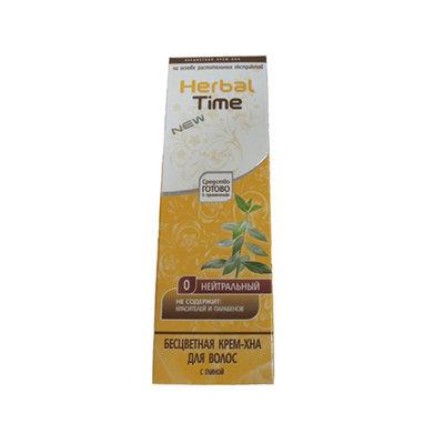 Крем-хна для волос натуральная бесцветная Cassia fistula Herbal Time Роза Импекс 75 ml
