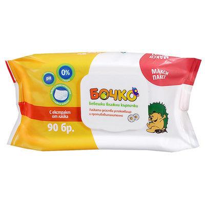 Детские влажные салфетки с экстрактом ромашки Лавена Baby Ёжик 90 шт.