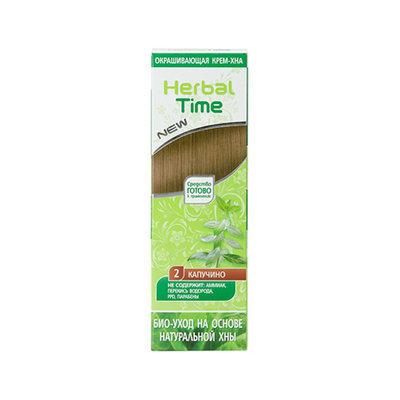 Крем-хна для волос Каппучино Herbal Time Роза Импекс 75 ml