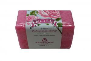 Мыло- пилинг с натуральной губкой Роза Болгарская Роза Карлово 75 gr