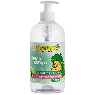 Жидкое мыло с алоэ Вера Лавена Baby Ёжик 500 ml