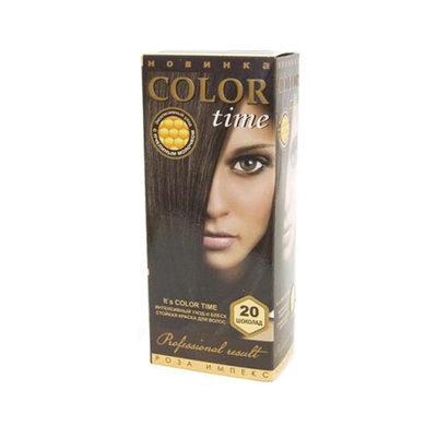 Гель- краска для волос Шоколад Color Time Роза Импекс 100 ml