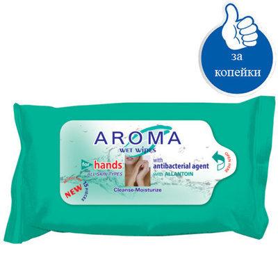Влажные антибактериальные салфетки для рук Арома