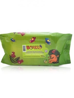 Детские влажные салфетки с натуральным маслом парикового дерева Лавена Baby Ёжик 72 шт.