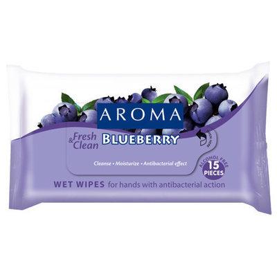 Влажные салфетки для очищения рук с антибактериальным эффектом Blueberry Арома
