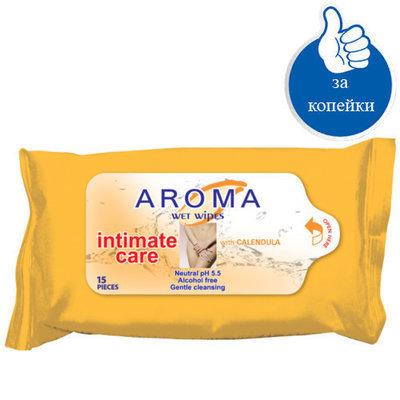 Влажные салфетки для интимной гигиены с экстрактом Календулы Арома