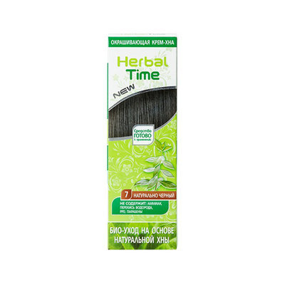 Крем-хна для волос Натуральный черный Herbal Time Роза Импекс 75 ml