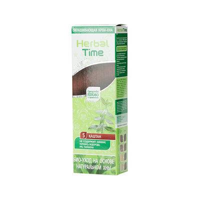 Крем-хна для волос Каштан Herbal Time Роза Импекс 75 ml