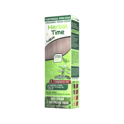 Крем-хна для волос Серебристо- русый Herbal Time Роза Импекс 75 ml