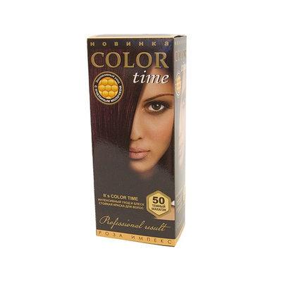 Гель- краска для волос Темный махагон Color Time Роза Импекс 100 ml