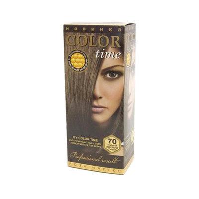 Гель- краска для волос Темно- пепельно- русый Color Time Роза Импекс 100 ml