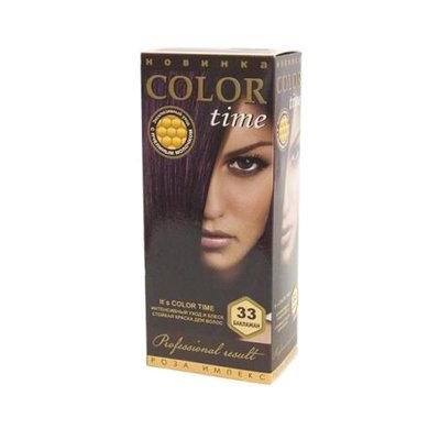 Гель- краска для волос Баклажан Color Time Роза Импекс 100 ml