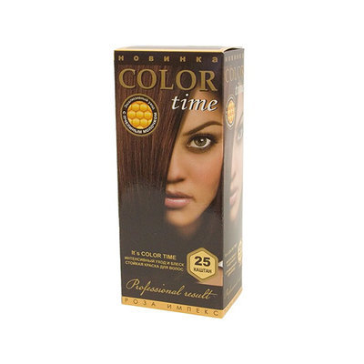 Гель- краска для волос Каштан Color Time Роза Импекс 100 ml