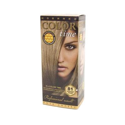 Гель- краска для волос Пепельно- русый Color Time Роза Импекс 100 ml